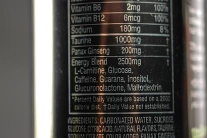 Energy Drinks Ingredients