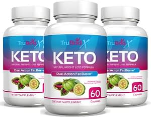 Bottles of TruBodX keto