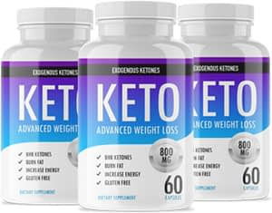 Bottles of Keto Advanced weight loss
