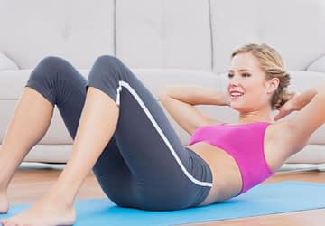 Do situps to burn belly fat