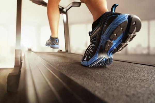 Doing a treadmill