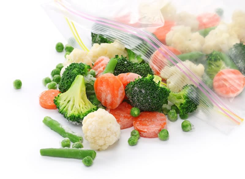 Bag of frozen vegetables one of the easy weight loss tricks