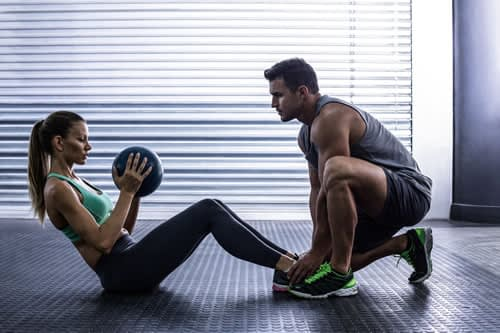 Couple exercising for weight loss